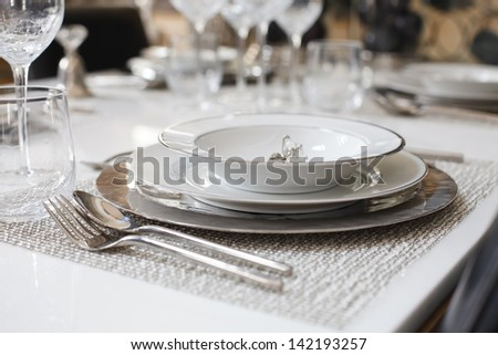 A dinner plate - stock photo