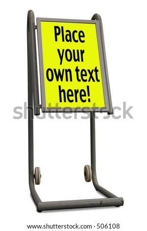 A display board, isolated with outline path and separate path for content border. - stock photo