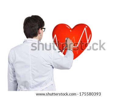 A doctor checking a heart rhythm 5 - stock photo