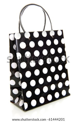 a dotted bag in black and white - stock photo