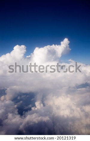 A dramatic cloudscape from the sky - stock photo