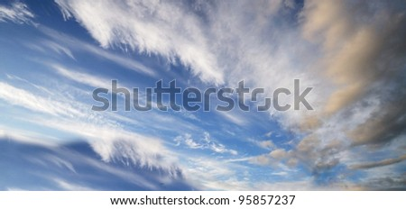 A Dramatic Sky - stock photo
