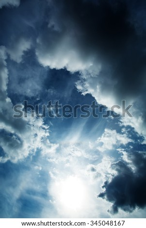 A dramatic Sky background. - stock photo