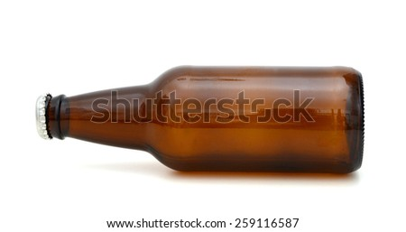 A drinking glass bottle isolated on white - stock photo