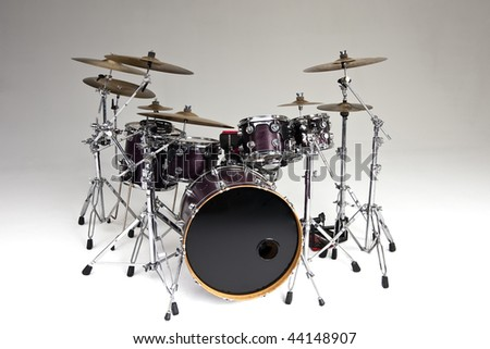 A drum battery isolated on gray background - stock photo