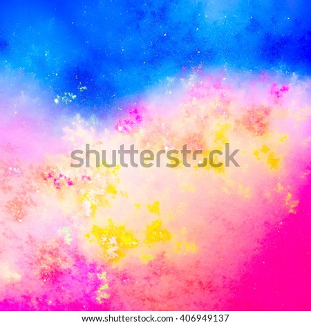 A dynamic and dramatic abstraction bright colorful colors. For the design with a positive mood spring and summer. Texture is poured, it gives a feeling of surprise, puzzle and uniqueness.   - stock photo