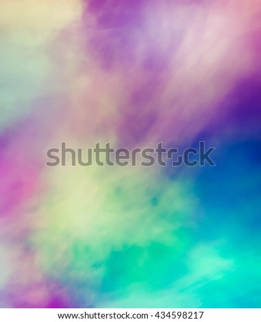 A dynamic and dramatic abstraction bright colorful colors. Textures create a sense of chaotic applying paint to the canvas. - stock photo