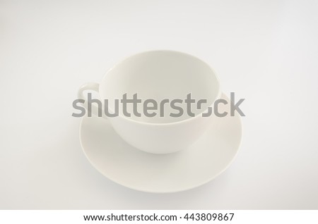A empty cup of coffee on white background. - stock photo