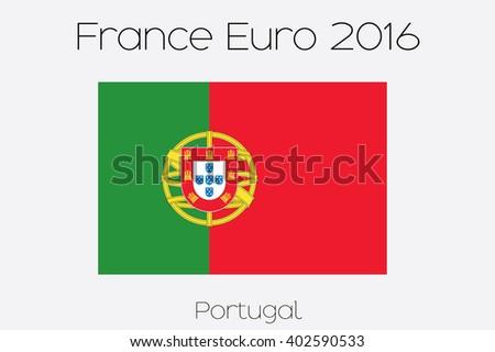 A European Football Championship in France  Illustration - stock photo