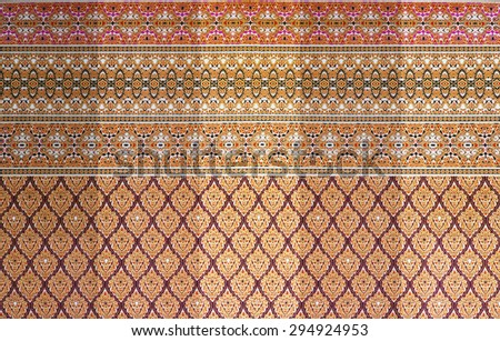 A fabric partition with thai pattern for home decoration - stock photo