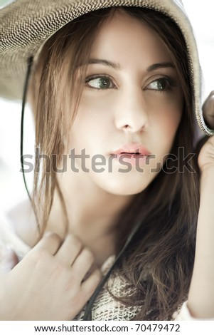 A fashion shot of a beautiful asian woman - stock photo
