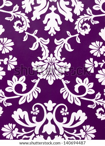 A fashionable modern purple floral wallpaper - stock photo