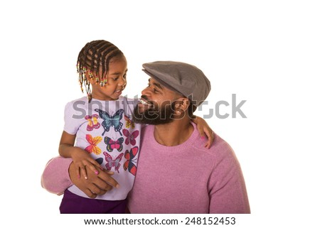 A father and his daughter - stock photo