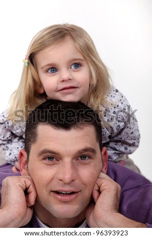 A father and his daughter. - stock photo
