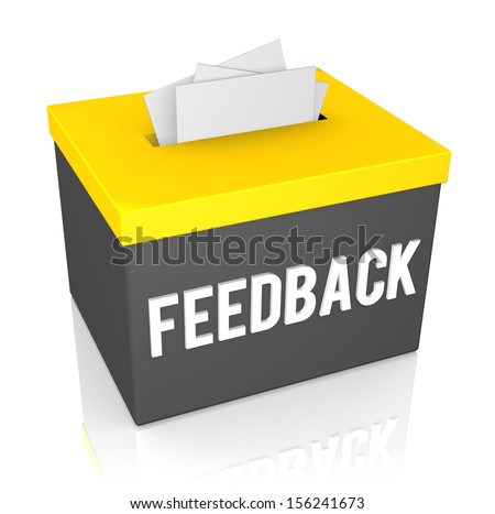 A Feedback box isolated on white background - stock photo