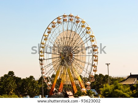 A  ferris wheel. Front view - stock photo