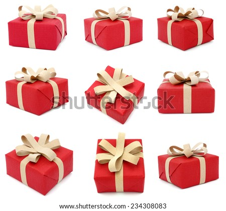 A festive shopping gift box - stock photo