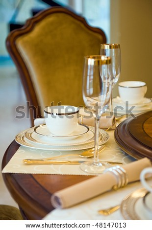 A fine dinner table in China - stock photo