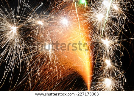 A firework fountain - stock photo
