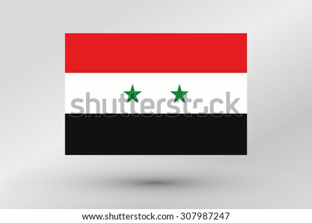 A Flag Illustration of the country of  Syria - stock photo