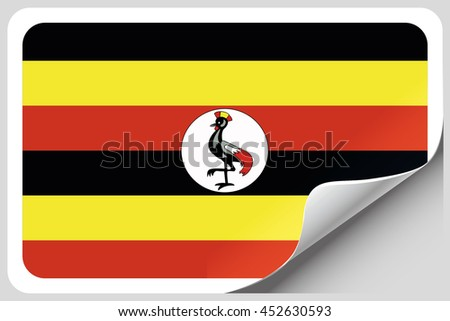 A Flag Illustration of the country of Uganda - stock photo