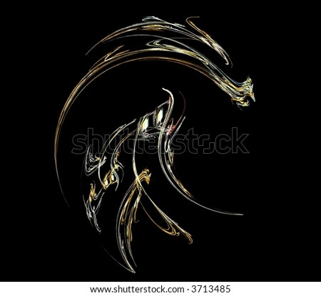 A fractal dragon design - stock photo