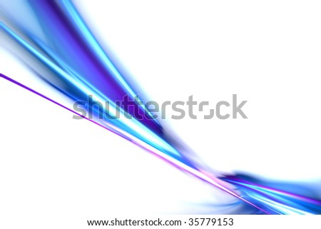 A fractal swoosh design with copyspace that works great as a background or backdrop. - stock photo