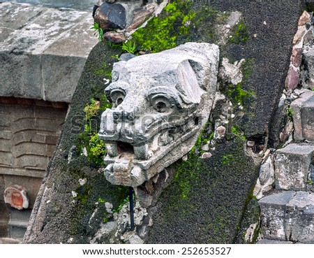 A fragment of the ruins of Teotihuacan - Mexico, Latin America - stock photo