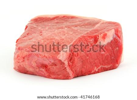 A freshly cut bottom round roast - stock photo