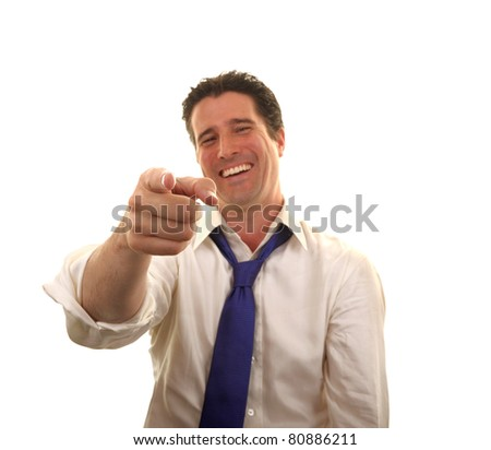 A friendly and relaxed businessman enjoys himself after a good day at the office job. - stock photo