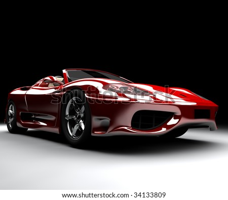 A front red car - stock photo