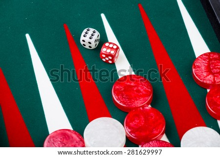 A game of backgammon - stock photo