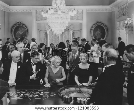 A game of roulette - stock photo