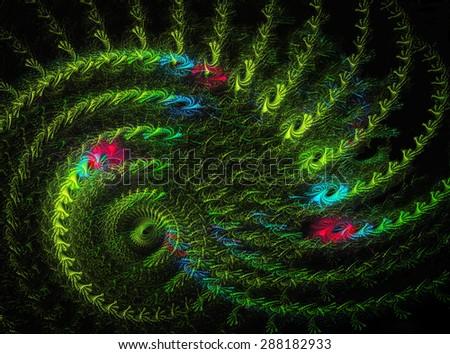 A Garden Maze abstract illustration - stock photo