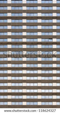 A generic office block facade that can be used as a seamless tile. - stock photo