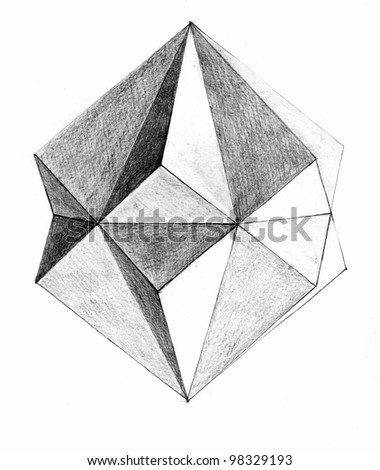 A Geometric Figure - stock photo