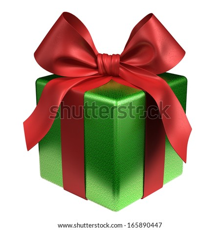 A gift for Christmas, Birthday, Wedding, or Valentine's day - stock photo