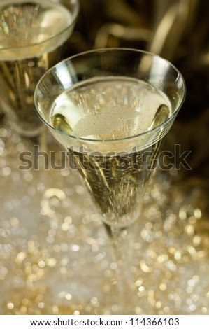 A glass of champagne - stock photo