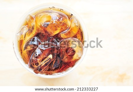 A glass of cola. - stock photo