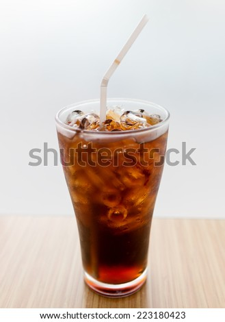 a glass of cola  - stock photo