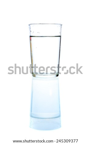 a Glass of water - stock photo