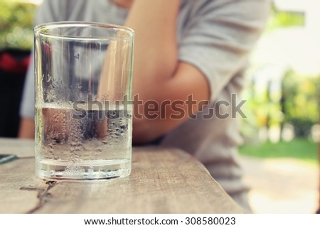 A glass of water.  - stock photo
