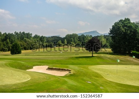 A golf course in Spain (Europe) - stock photo