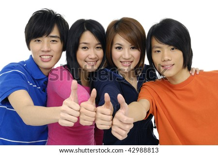 A good looking group of young adults - stock photo