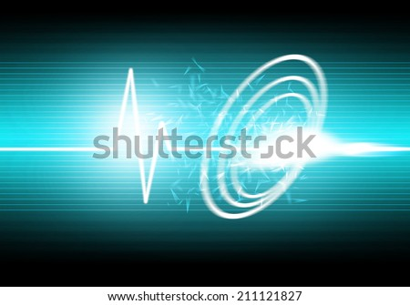 a graphic of sound wave abstract background - stock photo