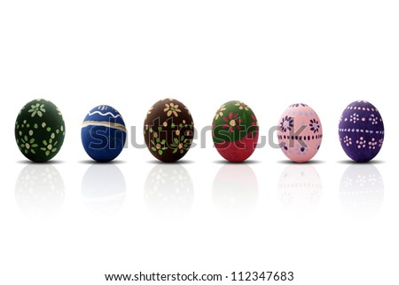 A great Easter Eggs frame for Easter theme - stock photo