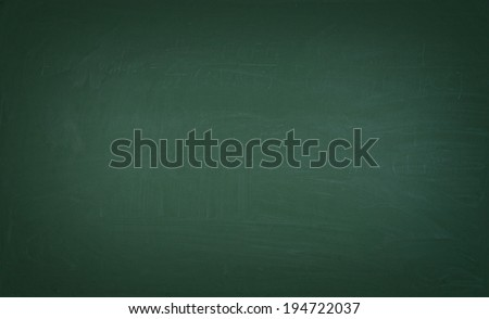 A green chalkboard - stock photo