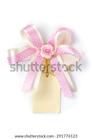 a greeting card with decoration isolated. - stock photo