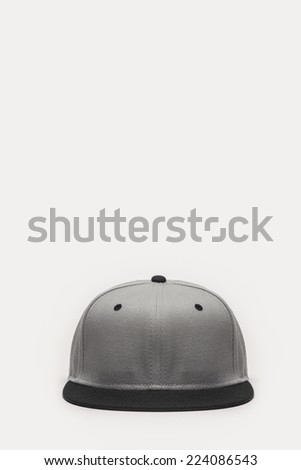 A grey cap front side view isolated white background. - stock photo