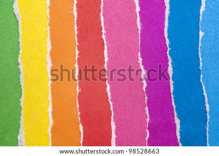 a group of colored paper - stock photo